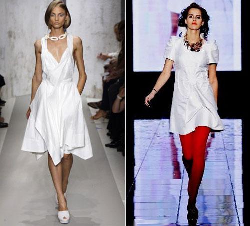 Летние белые платья 2010 платье для