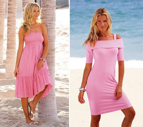 вечерние платья ярко розового цвета