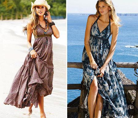 Длинные летние сарафаны и платья