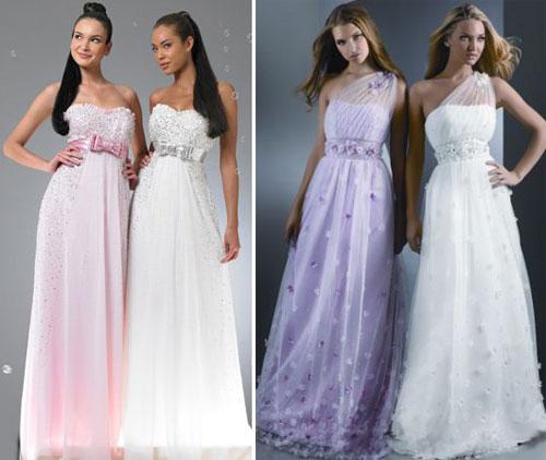 Длинные выпускные платья 2010