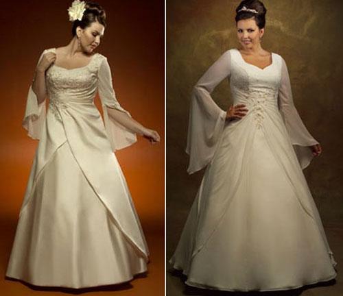 Фасон свадебного платья для полных