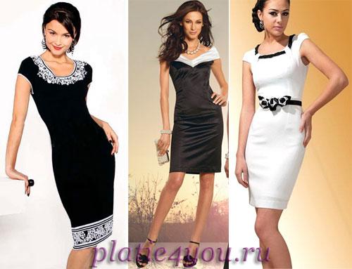 Цвет платья чисто черный или белый с