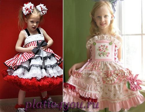 нарядные платья для девочек для лета
