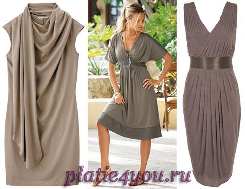 платья из трикотажа ... штор для своего дома; Выкройка платья из шифона...