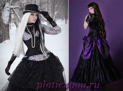 Картинки платья готика