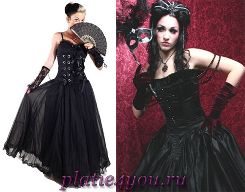 Готические платья в картинках