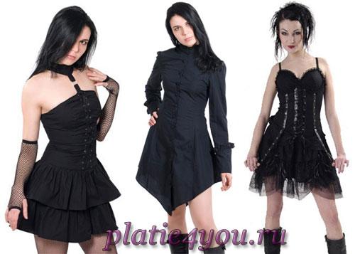 платья в стиле поздней готики.