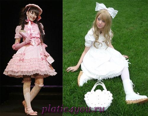 Платья в стиле сладкая и белоснежная Лолита