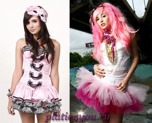 Розовые свадебные платья фото