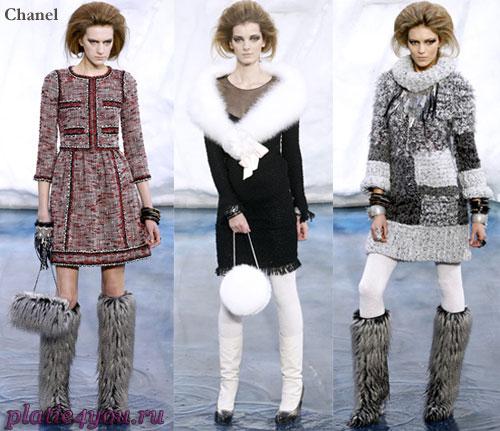 Зимние вязаные платья схемы - платья.
