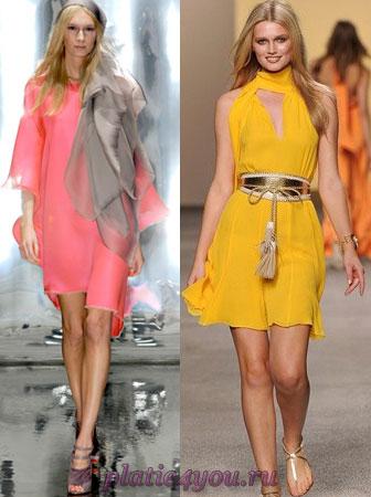 Яркие летние шифоновые платья