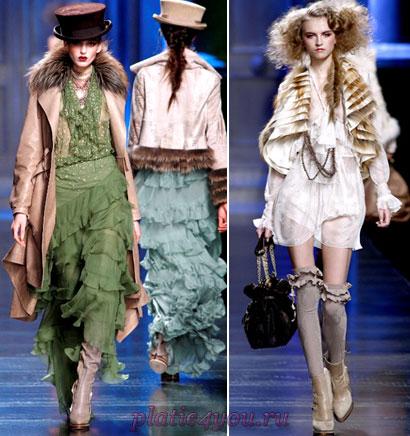Зимние шифоновые платья