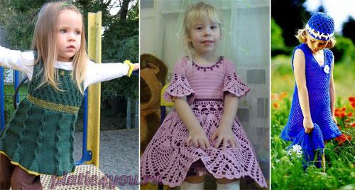 платье с полосатым верхом вязаное на спицах