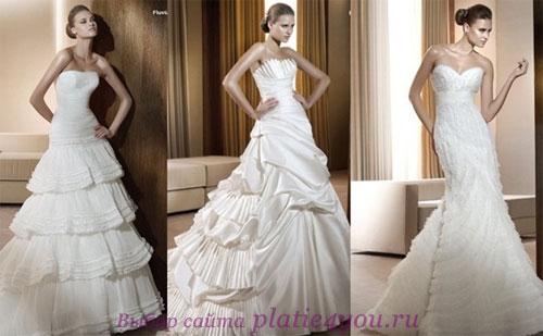 Свадебные платья только фото 2011