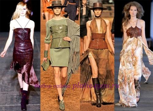 кожаные платья асимметричного кроя