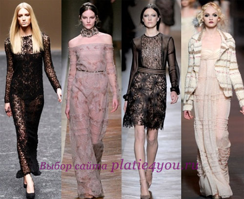 Кружевные платья Бренды: Blumarine, Valentino, Christian Dior