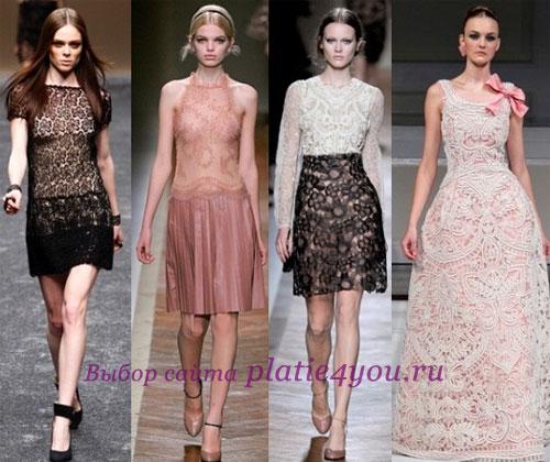 Кружевные платья 2011 Бренды: Blumarine, Valentino, Oscar de la Renta