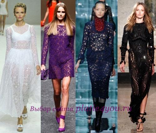 Кружевные платья Бренды: Dolce & Gabbana, Blumarine, Marc Jacobs, Emilio Pucci