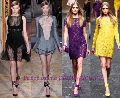 Кружевные платья Бренды: Antonio Berardi, Blumarine