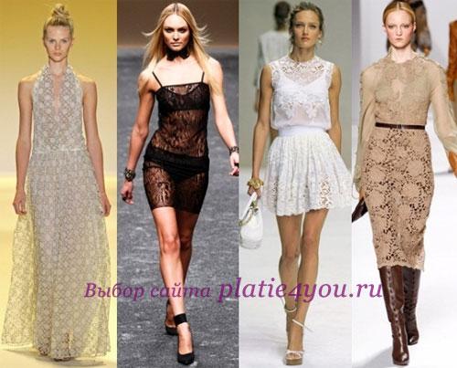 Кружевные платья  2011 Бренды: ADAM, Blumarine, Dolce & Gabbana, Elie Tahari