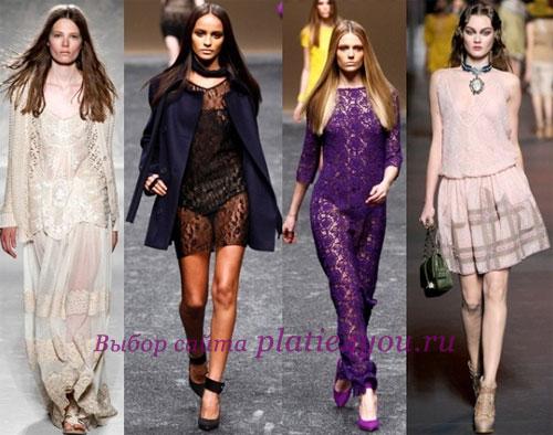 Кружевные платья Бренды: Alberta Ferretti, Blumarine, Christian Dior