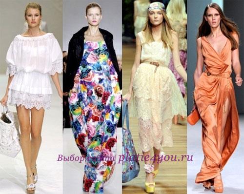 Китайские платья летние