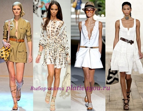 Легкие платья весна лето 2012 самые
