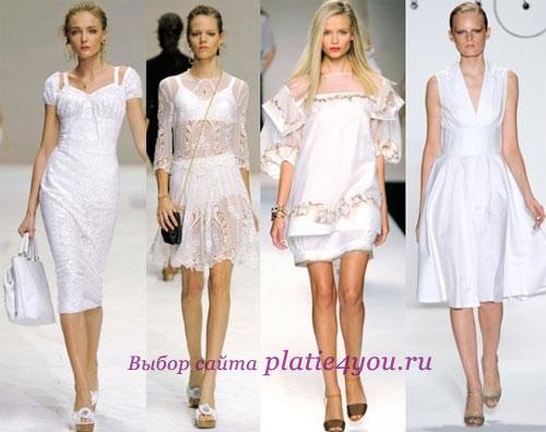 Белые летние платья 2011 года фото