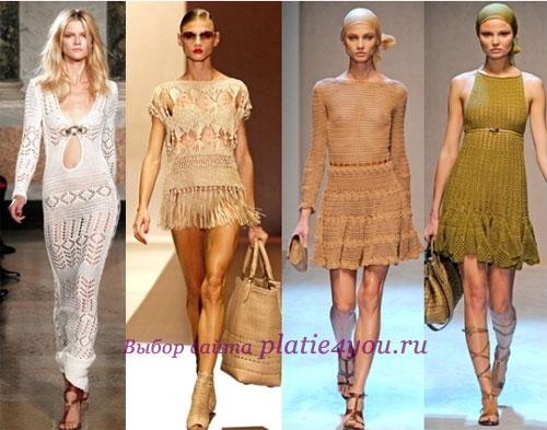 Вязаные летние платья 2011 года: фото
