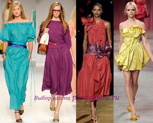 Яркие летние платья 2011 года: фото