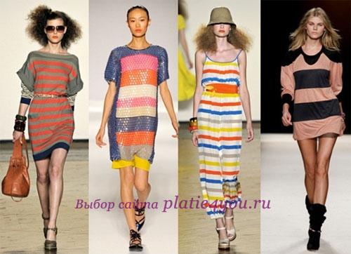вязанные платья 2012