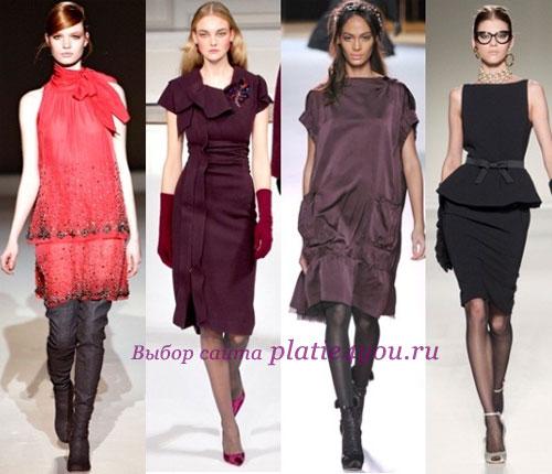 Романтичные фасоны ретро-платьев, длиной - от макси до мини, дополненные...