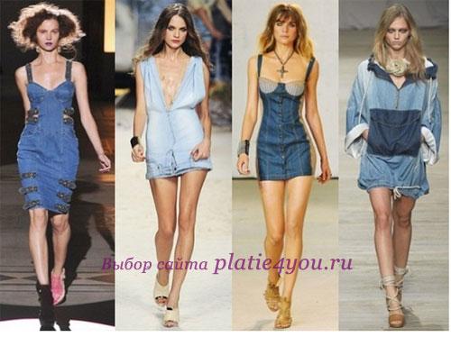 Секрет популярности джинсового платья