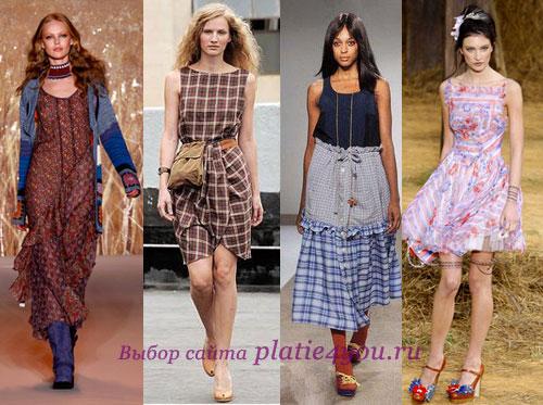 Деревенские платья
