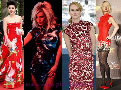 Платье в китайском стиле – роскошь Востока