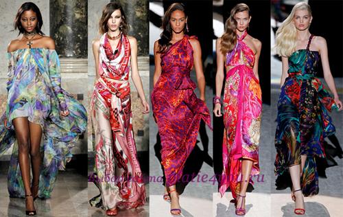длинные шелковые платья