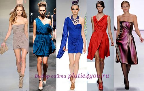 Платье из платков фасон
