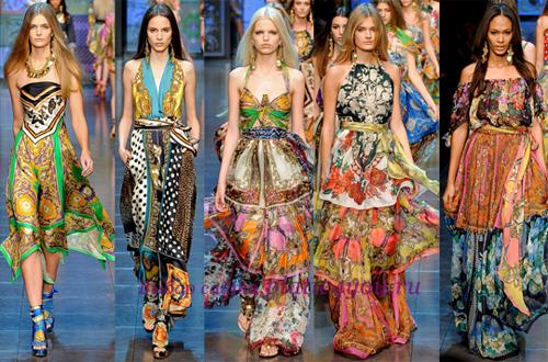 расцветка летних платьев из шелка