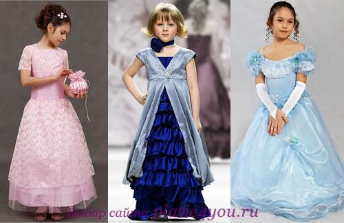 с чем надеть бальное платье девочке