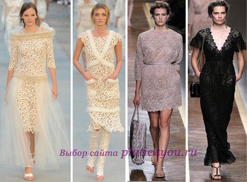Три цвета и фасоны новогодних платьев 2012.