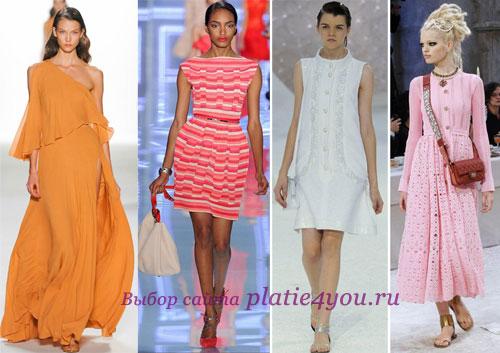 Фасоны летних платьев - фото