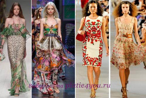 фасоны летних платьев 2012 из сатина в картинках.