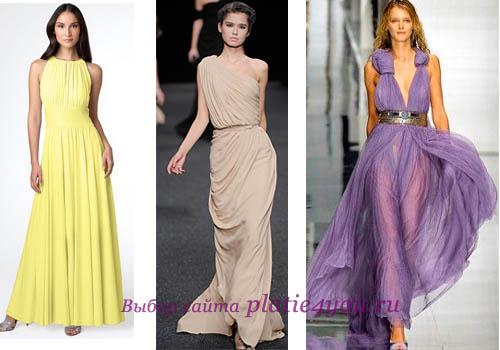 Выпускные платья в греческом стиле хороши тем, что даже при минимальных...