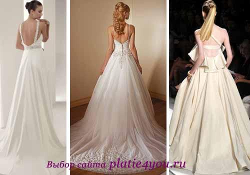 Свадебные платья с вырезом на спине