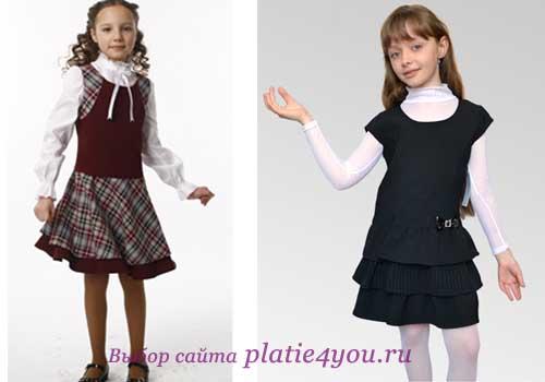 как и с чем носить школьное платье