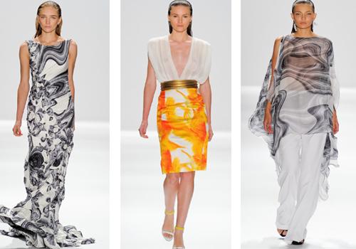 Тропические платья в коллекции Carlosa Miele весна лето 2012
