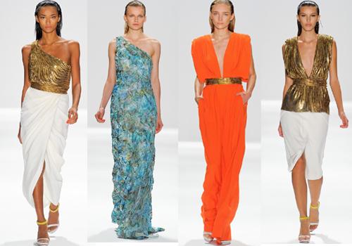 Тропические платья в коллекции Carlosa Miele