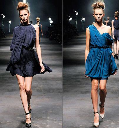Мини-платья с драпировкой