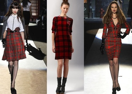 Платья в шотландку