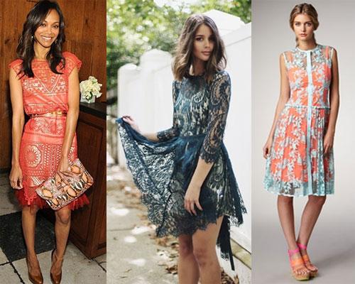 Платья из кружева с чем носить фото